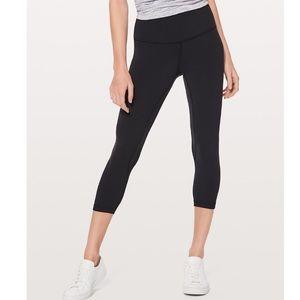 "LuluLemon 21"" Black Crop Yoga Pant Leggings"